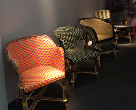 Rattan chairs by     Drucker
