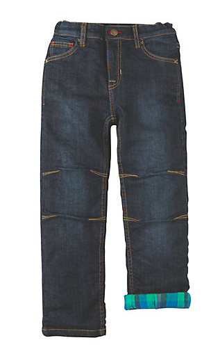 flannel lined kids jeans from  Frugi Organic , John Lewis £34