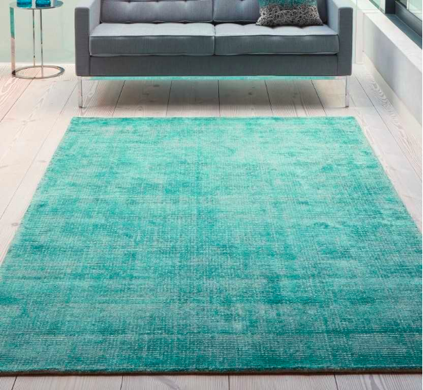 Oceans OCE04 Turquoise Rug 100% wool from £119, from  Modern Rugs , who have a huge choice of eco rugs and a large variety of colours.