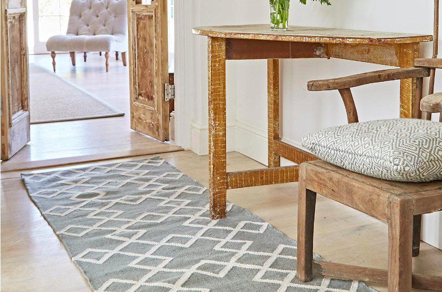 Dove Grey Juno Rug from  Weaver Green