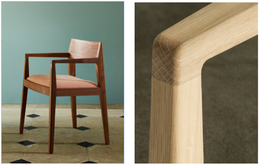 Holworth dining chair by Benchmark  in sustainable oak or walnut £495 – available with or without arms