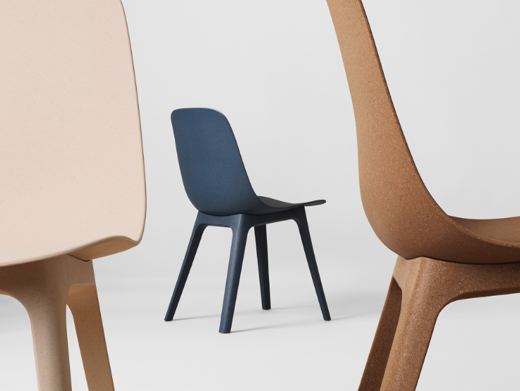 Ikea Odger chair  £65, designed by Swedish studio Form Us With Love. 30% sustainable wood and at least 55% of its remaining materials is recycled plastic.