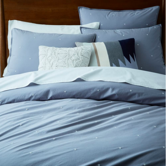 Beautiful organic cotton bed linen is available from  West Elm