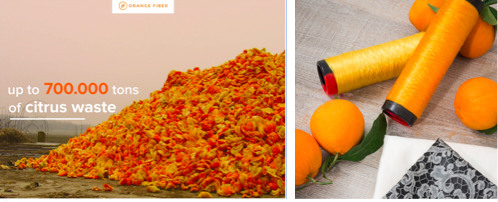 Orange Fiber  produce fabrics from orange peel