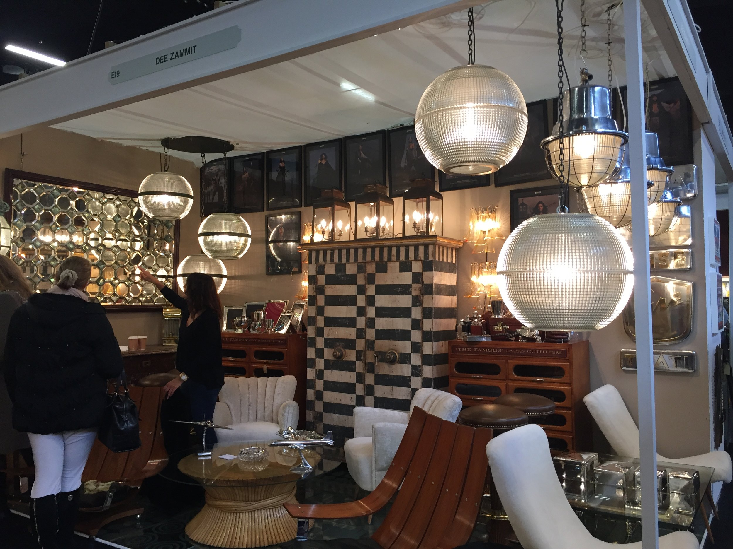 Dee Zammit  has a shop in Portobello Rd, Notting Hill, with a beautiful collection of interesting lights and furniture.