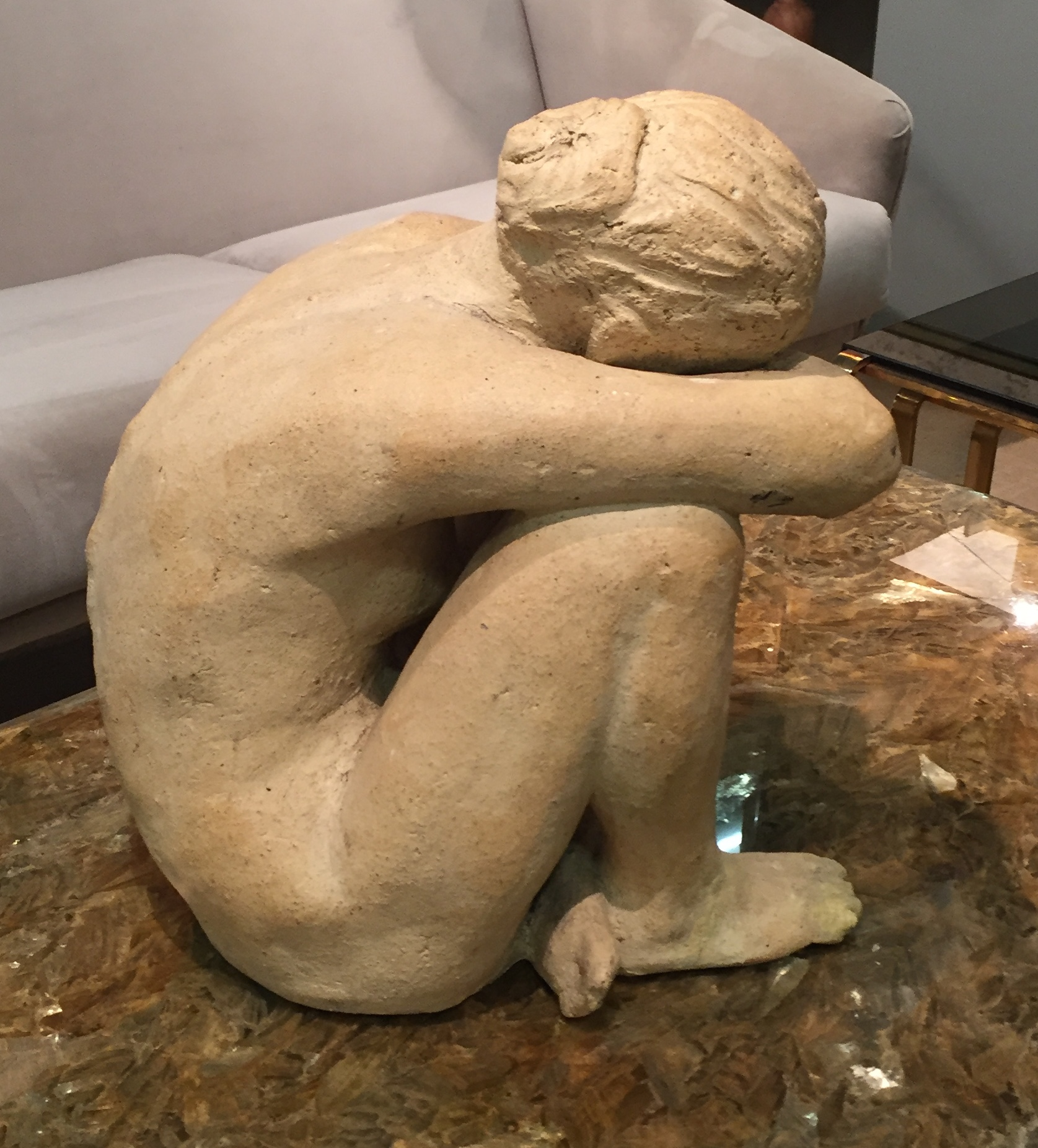 This lovely stone lady, £2,800 is from  Troix Garcons , in Marylebone's Antique hot spot, Church Street.