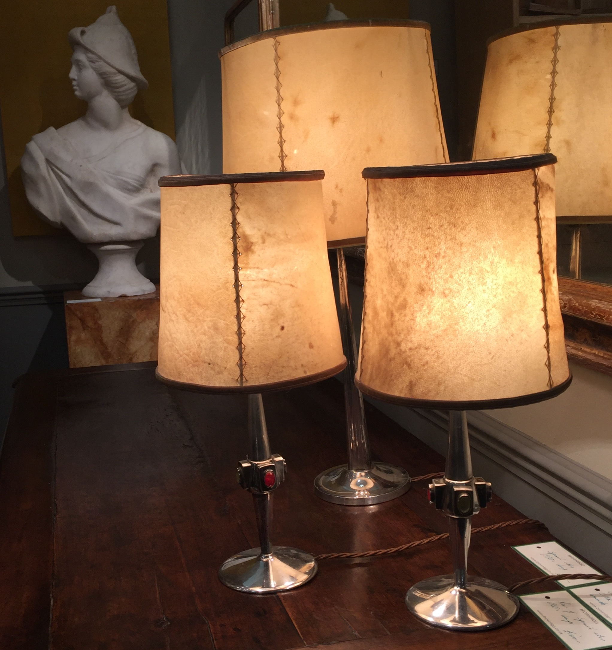 BrownRigg  in Tetbury always have an interesting selection of gorgeous things. Antique lamps from £800.