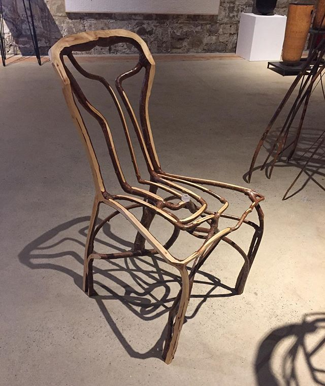 Fab exhibition on wood materials @messumswiltshire.  Gavin Munro does amazing things with wood #sculpture #woodsculpture #woodchair #shadows #wood #woodworking