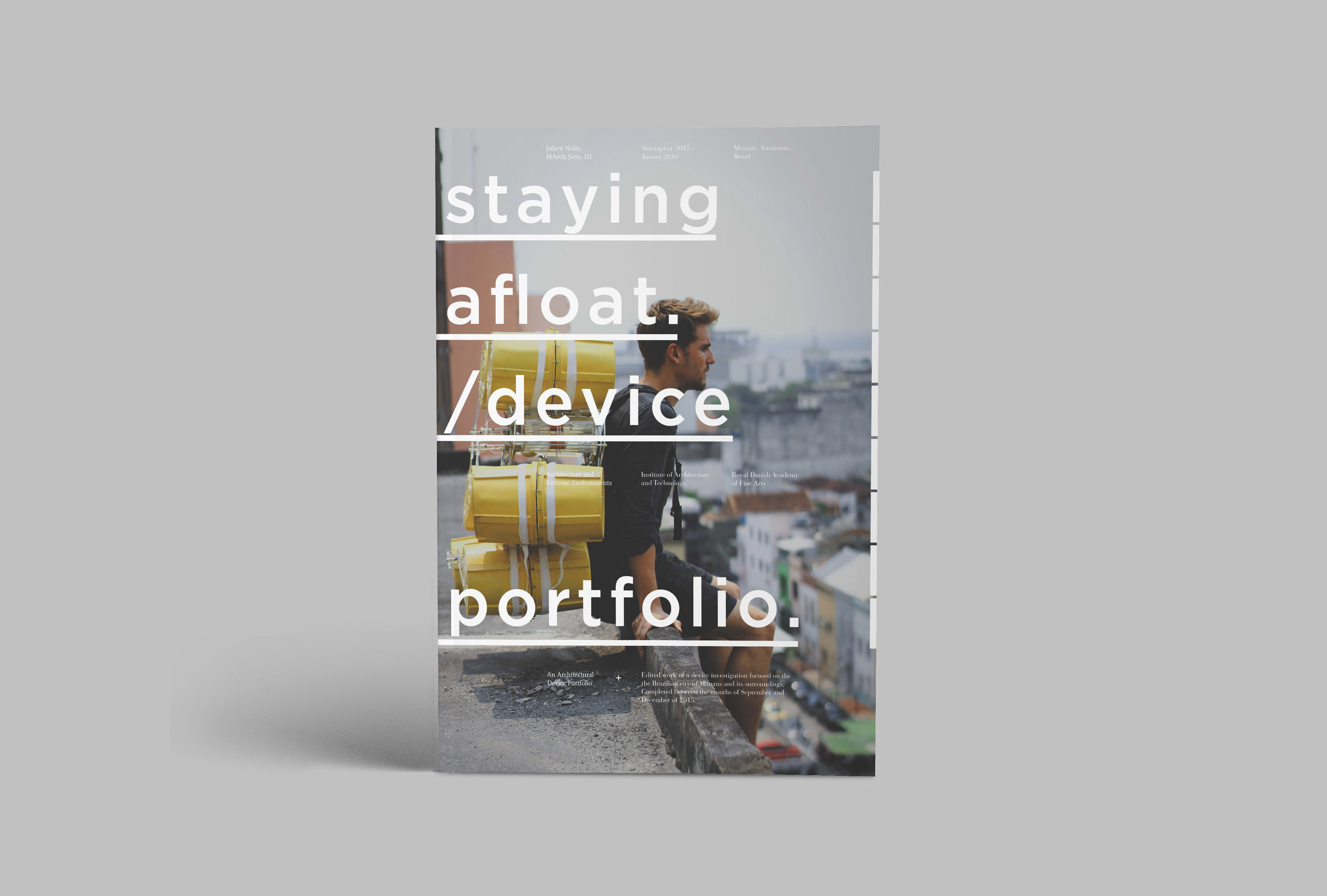 Julien Nolin Architecture taying Afloat Portfolio Cover