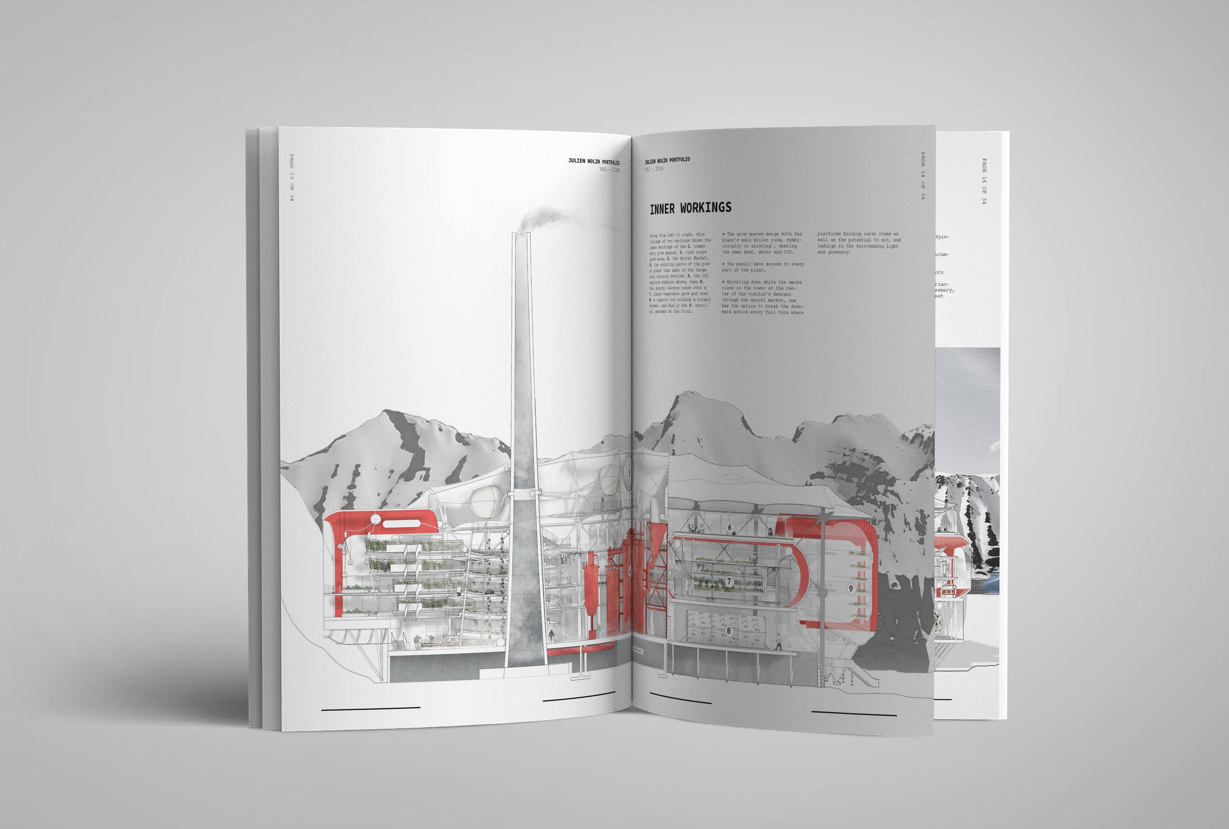 Julien Nolin Architecture Portfolio Carbon Greenhouse Section