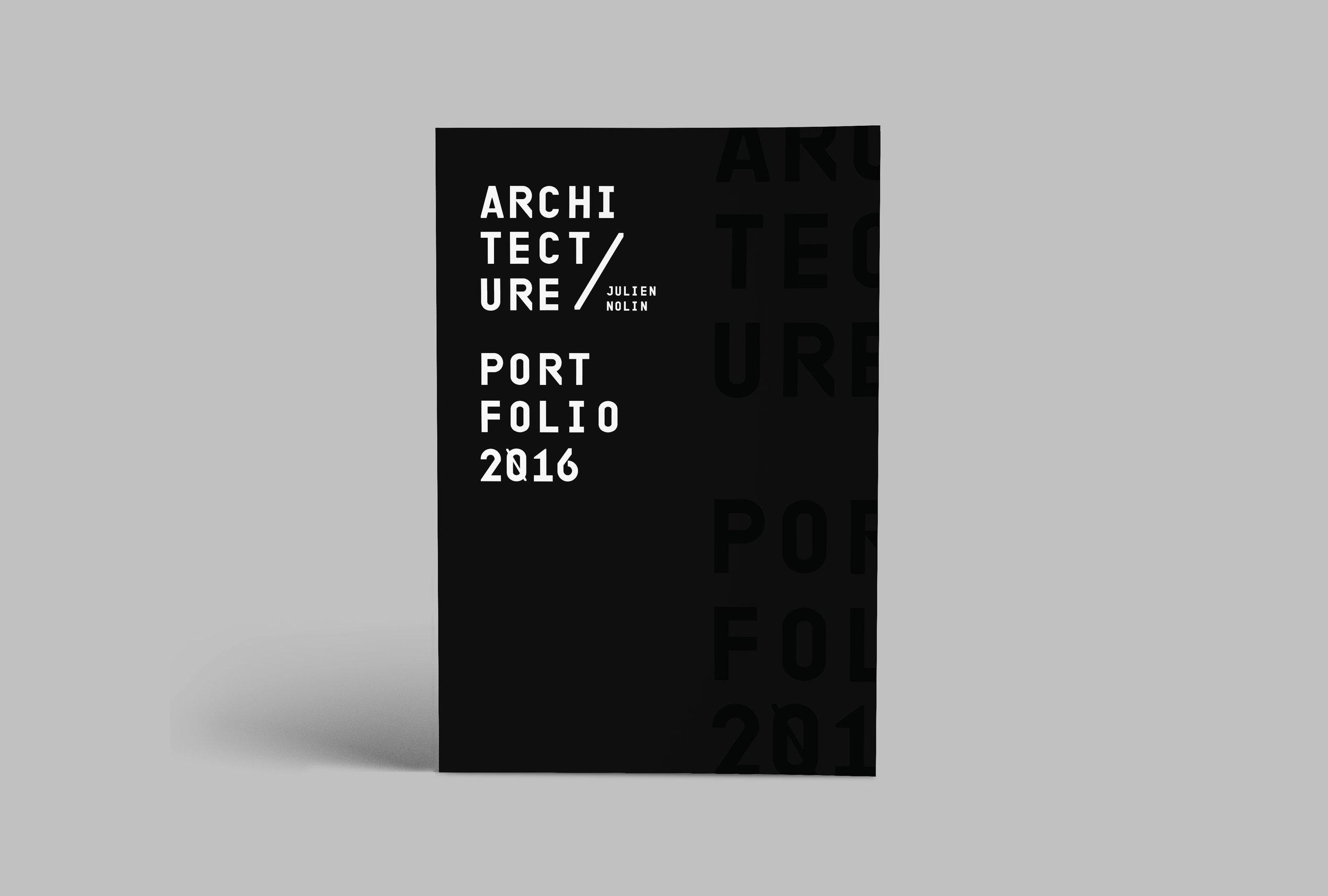 Julien Nolin Architecture Portfolio Cover
