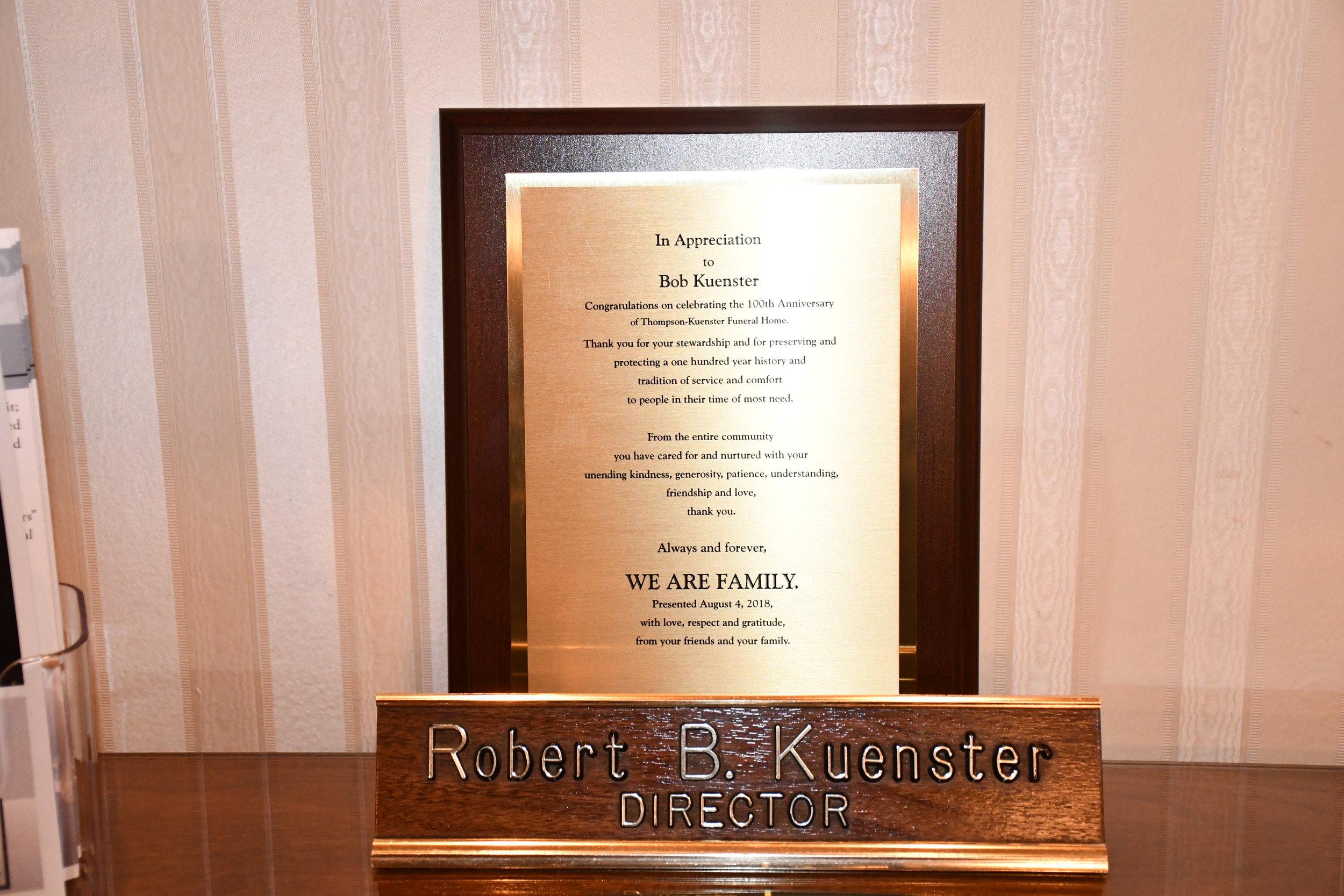Thompson & Kuenster Funeral Home   Bob Kuenster