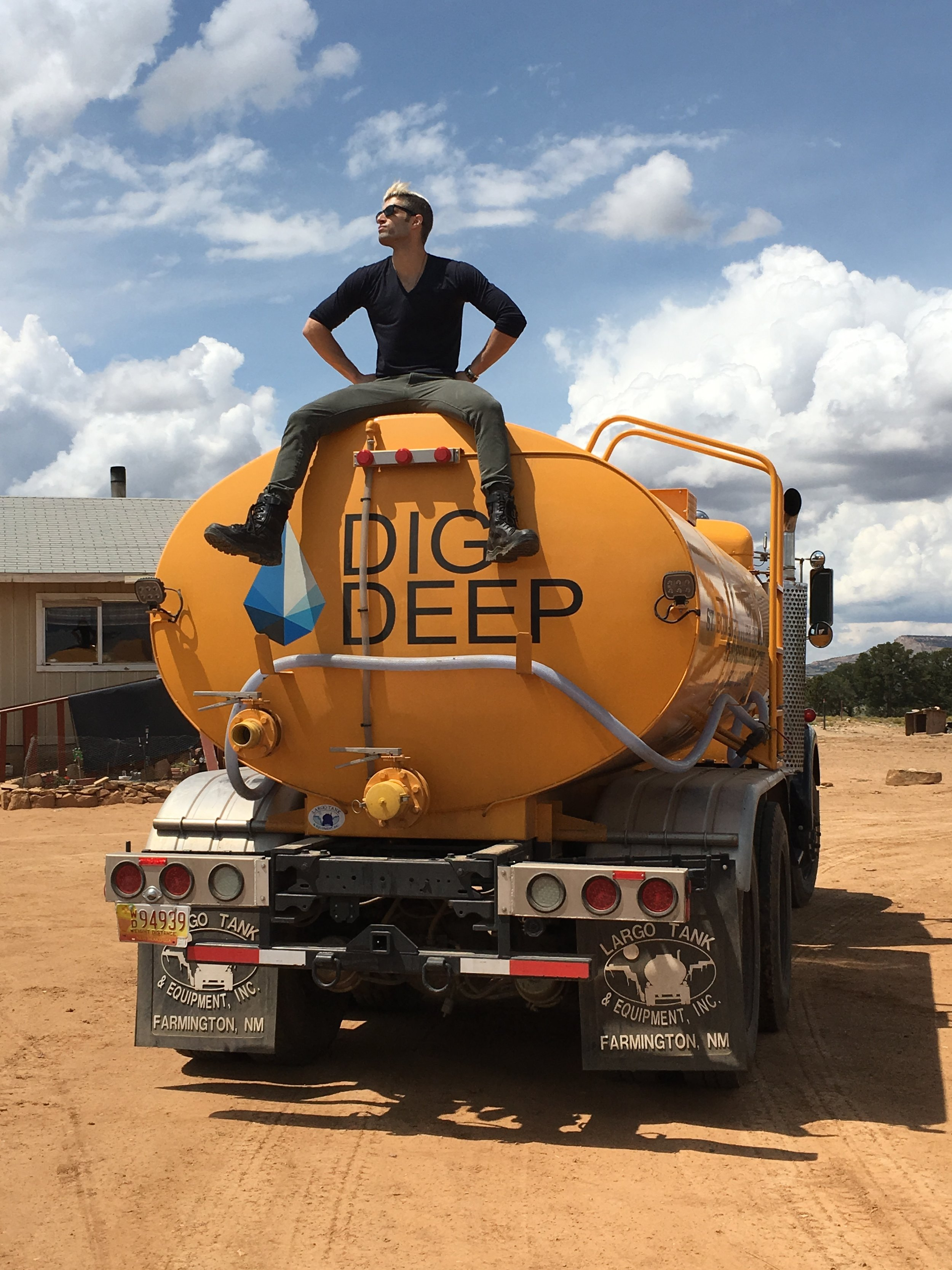 YouTube Creator, RJ Aguiar, on site for a digital media campaign with DIGDEEP in Thoreau, New Mexico.