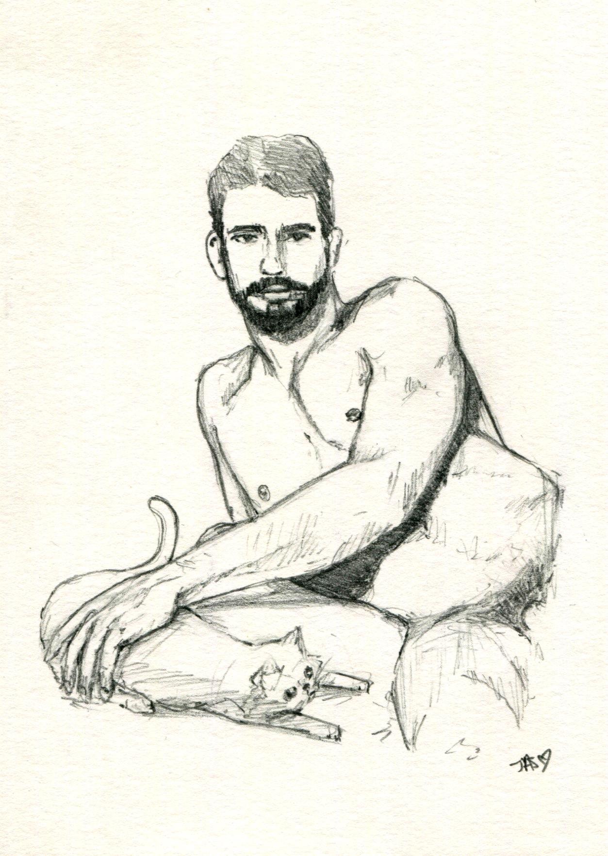 Al Parker Gay Porn al parker and his favorite friend original drawing — jason edward davis
