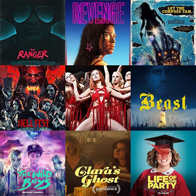 My favorite movies of the year in no particular order 1. The Ranger 2. Revenge 3. Let the Corpses Tan 4. Hellfest 5. Suspiria 6. Beast 7. The Wild Boys 8. Clara's Ghost 9. Life of the Party high recommend on all of these. #movies2018 #bestof2018 #genrefilms #theranger #revenge #letthecorpsestan #hellfest #suspiria #beast #thewildboys #clarasghost #lifeoftheparty