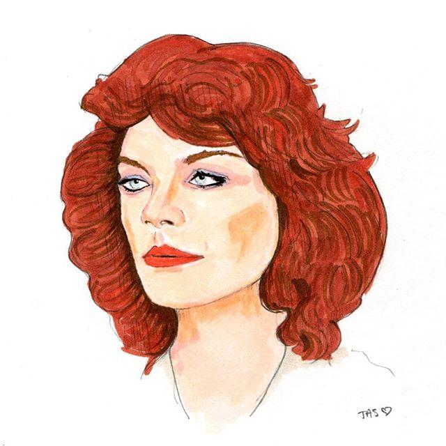 Flashback Friday of my first drawing of the incredible Meg Foster! #jasonedwarddavis #megfoster #horror #horroricon #actress #legend #womeninhorror #womeninfilm #drawing #marker #portrait