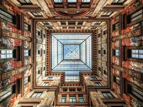 A view of ceiling of Sciarra Gallery.jpg