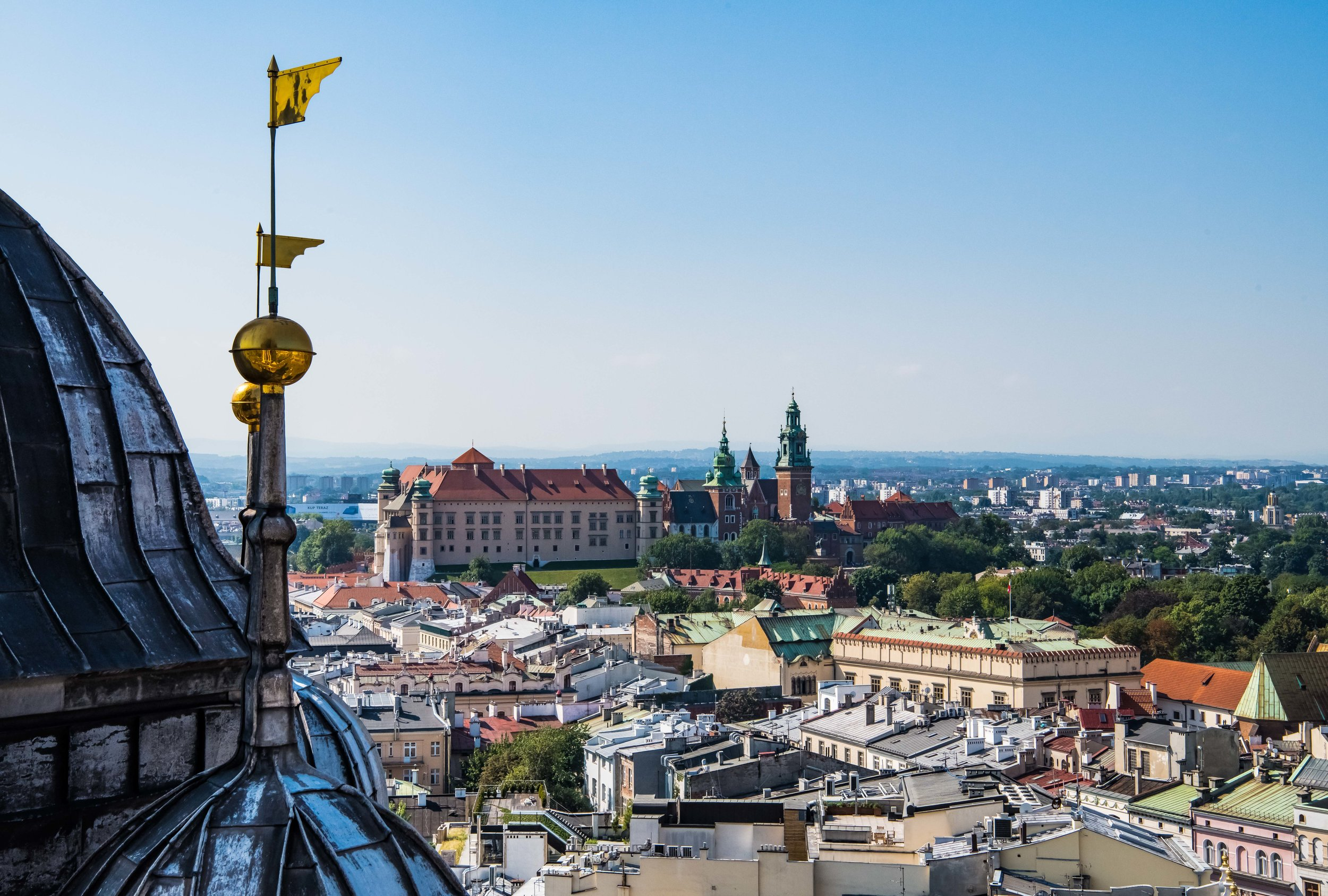 Wawel Castle from the tower of St Mary's Bascilica