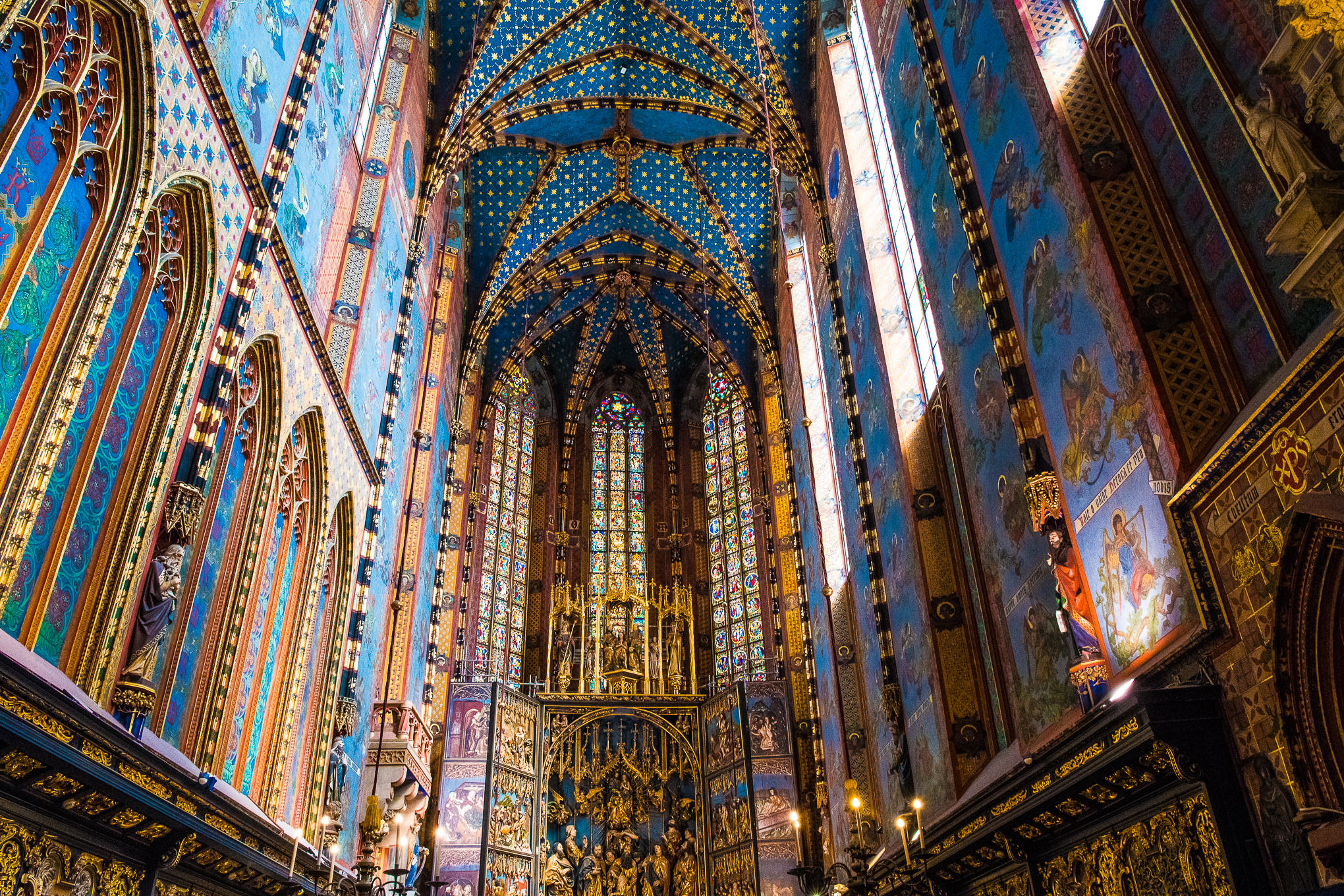 The colourful details inside St Mary's Bascilica