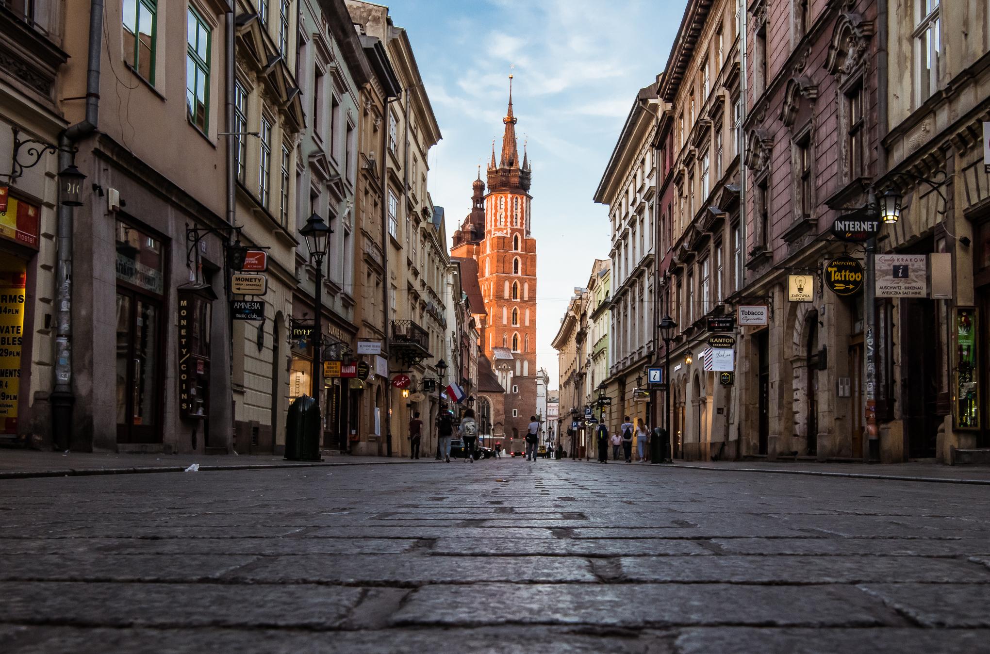Florianska Street early in the morning