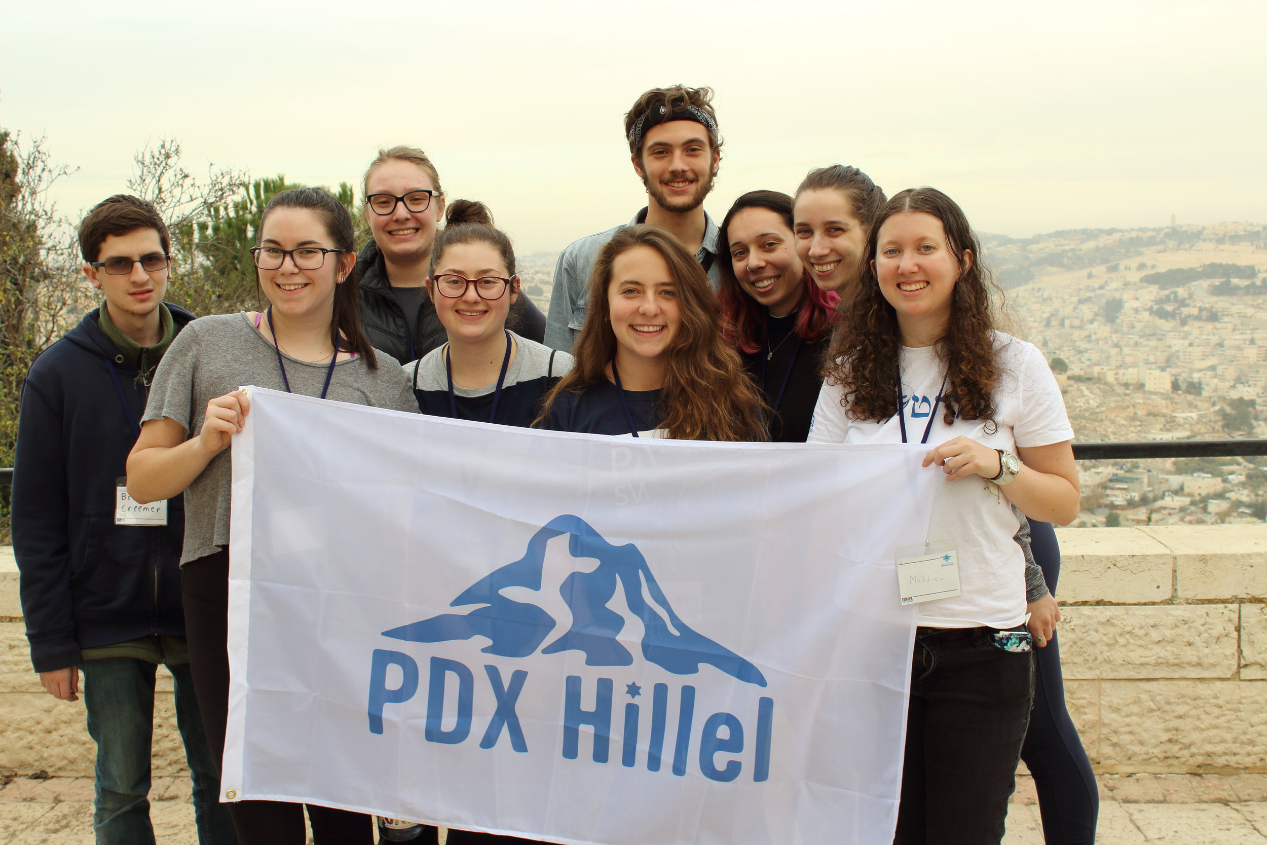 Students from Lewis & Clark and Portland State University on our Birthright Israel trip, winter 2017
