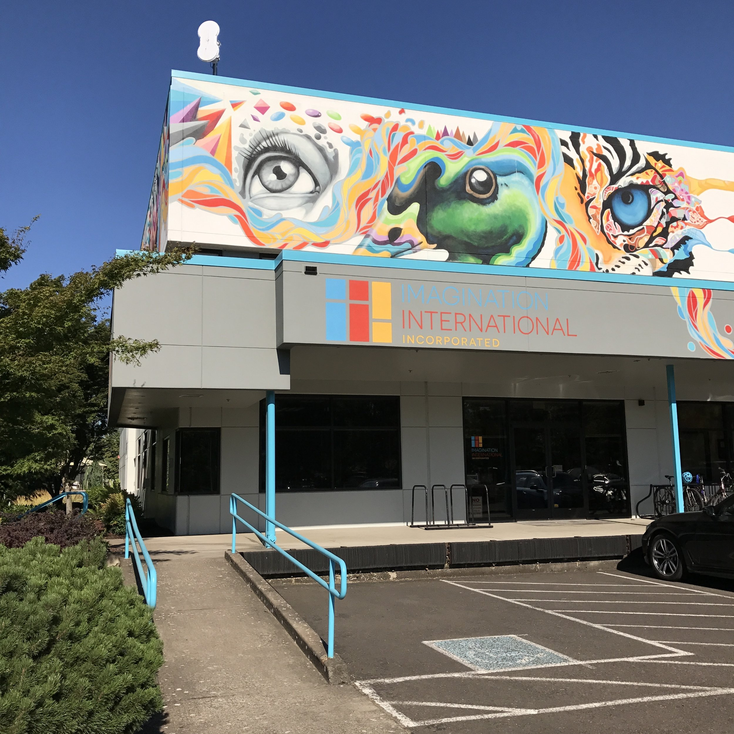 The outside of the @imaginationinternational/@copicmarker building.