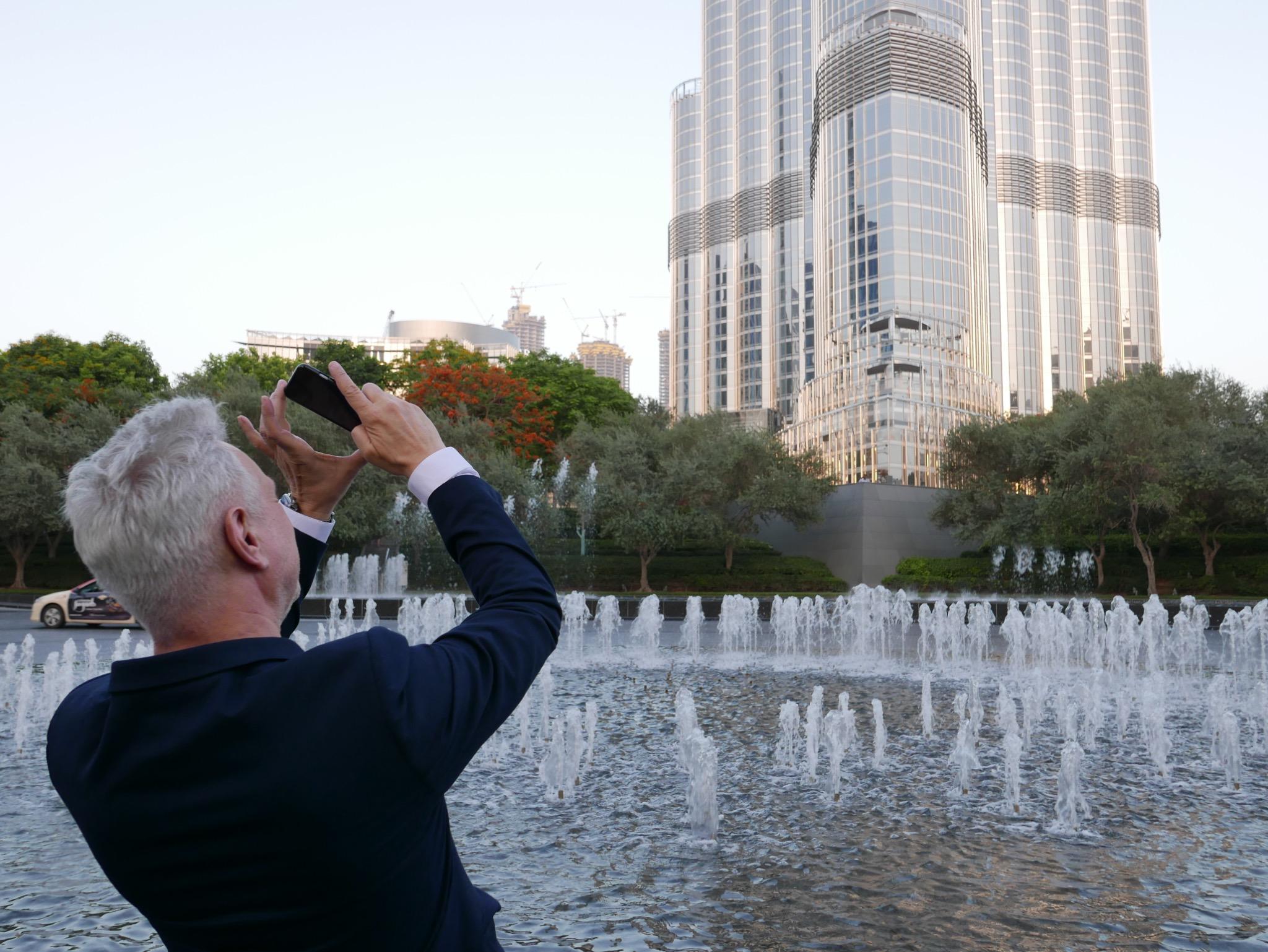 Roland snaps of photo of the Burj Khalifa
