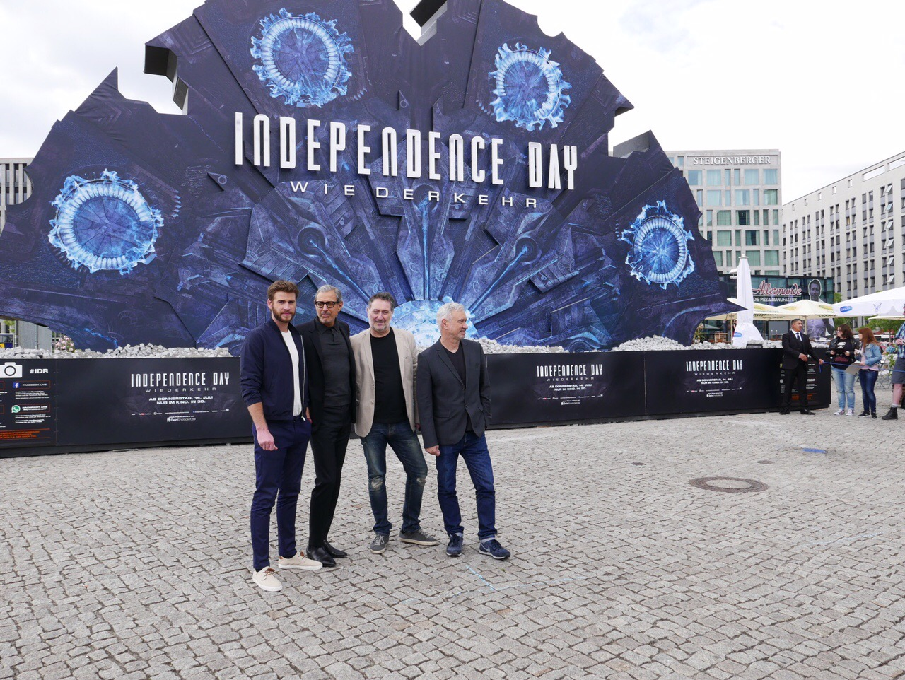 Roland, Liam, Jeff, and Harald pose in Berlin, Germany