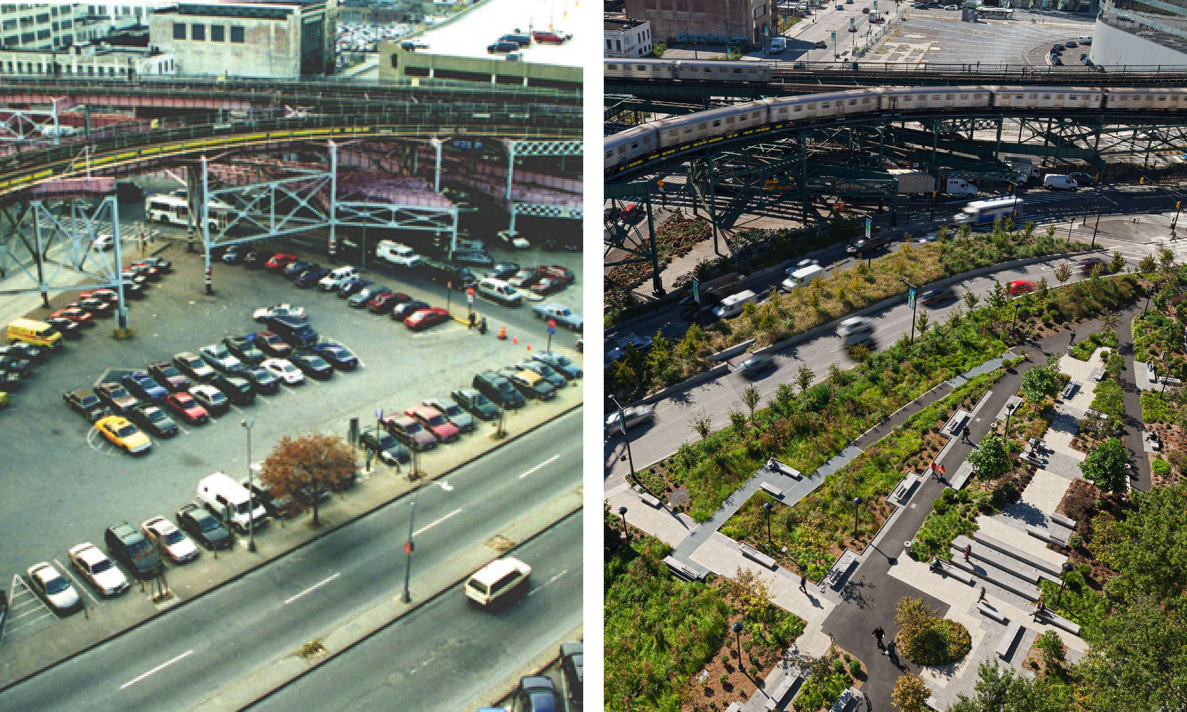 QUEENS PLAZA BEFORE / AFTER