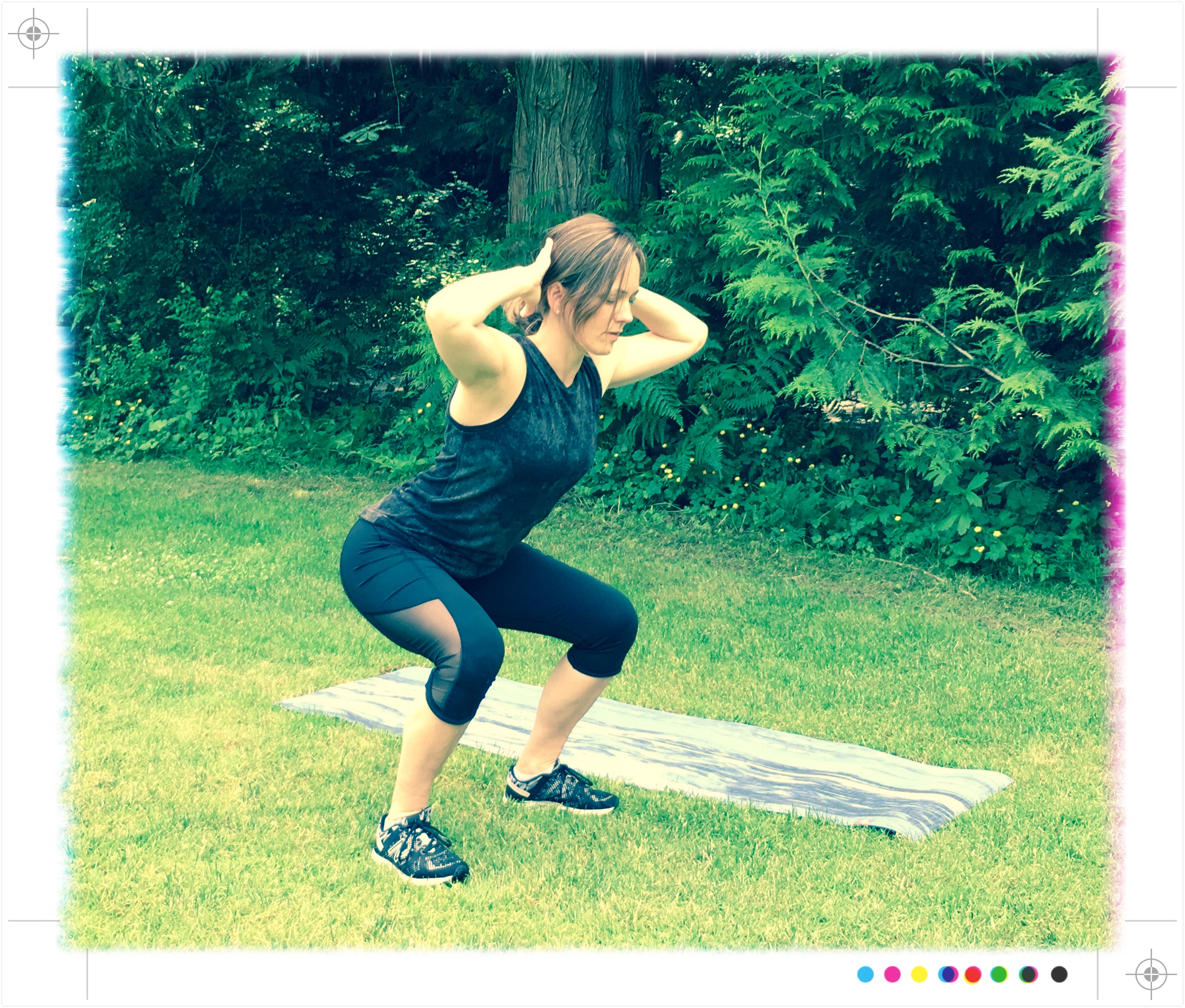 Bodyweight squats. Because it's a movement that helps to mobilize the hips, knees, and ankles, warms up the glutes, and gets the heart rate up. Plus squats are always included in their workouts. #nonnegotiable