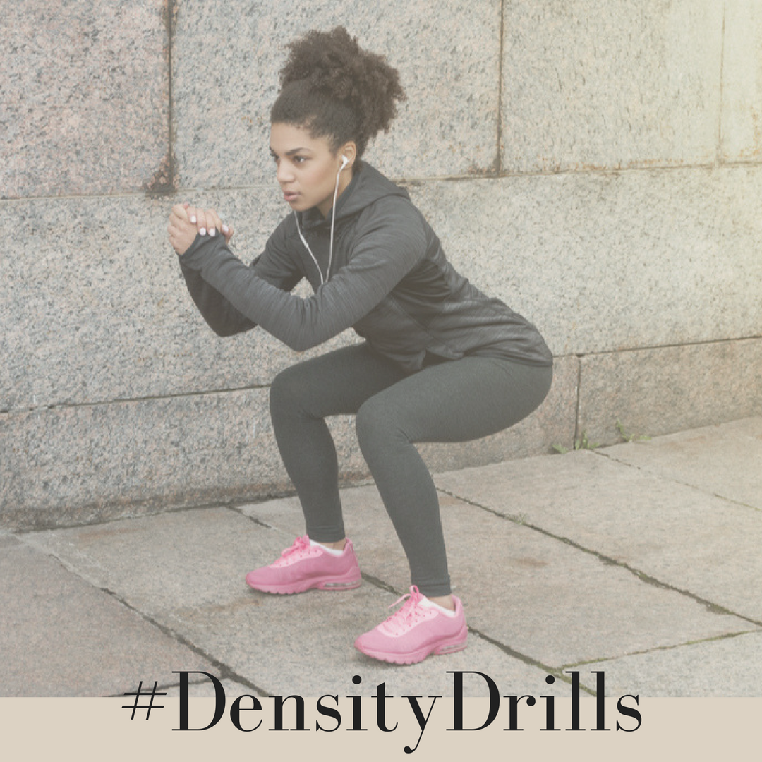 If you're looking for some fun workouts designed to improve your muscular endurance (you know, so you can last longer while doing yard work or playing with the kids), then check out #densitydrills. Grab your free workouts  here .