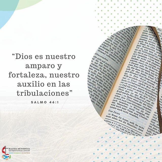 ¡Versículo del día!  Salmo 46:1  Hay esperanza en la tribulación.  #rehace #corazondeservicio #palabrarehace @cmjnuevotiempo @metodistapr