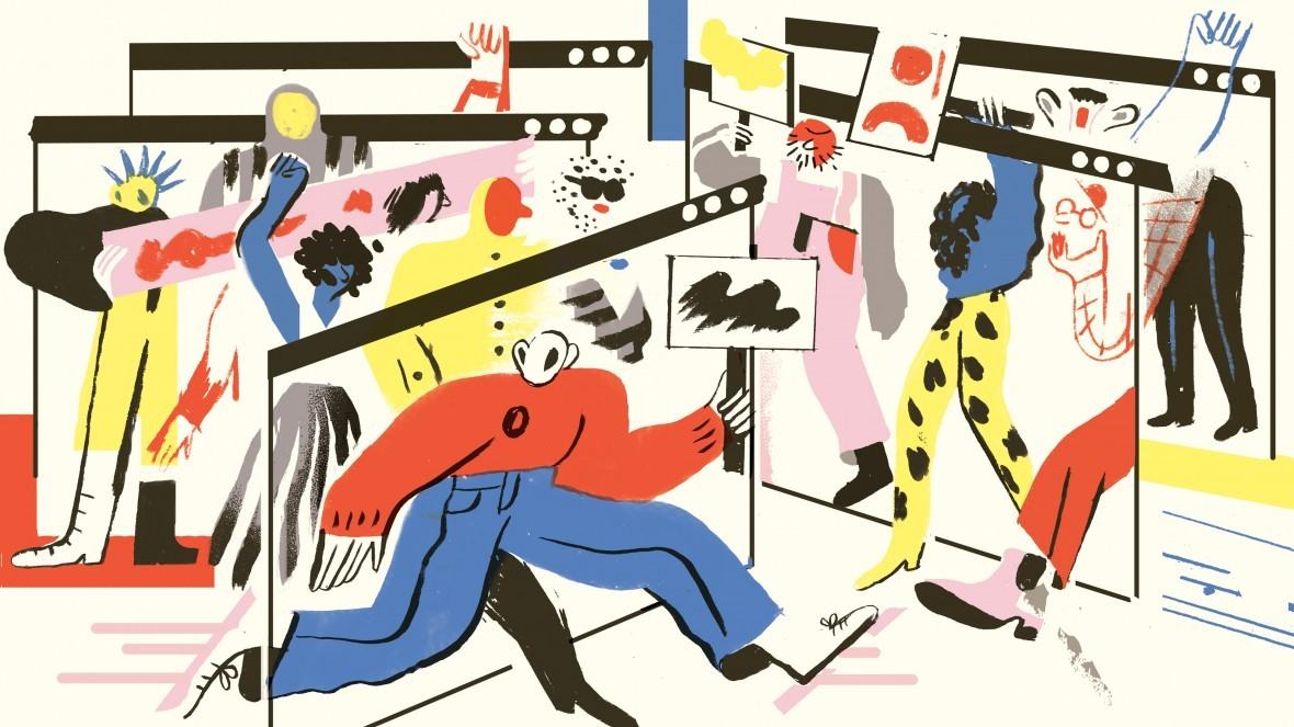 Social Media Is Killing Discourse Because It's Too Much Like TV   Illustration by Sarah Mazzetti