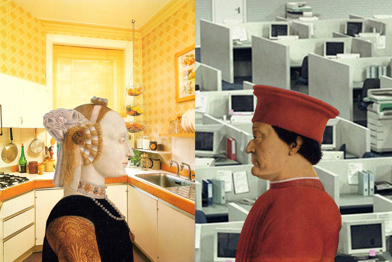 """Illustration for MIT Technology Review """"AI Learns Sexism Just by Studying Photographs"""