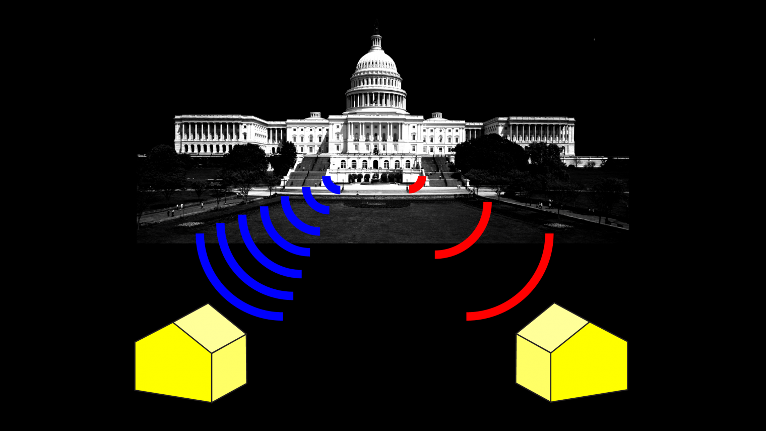 """Illustration for MIT Technology Review """"The FCC Is Hinting it Might Change its Rules to Hide America's Digital Divide"""