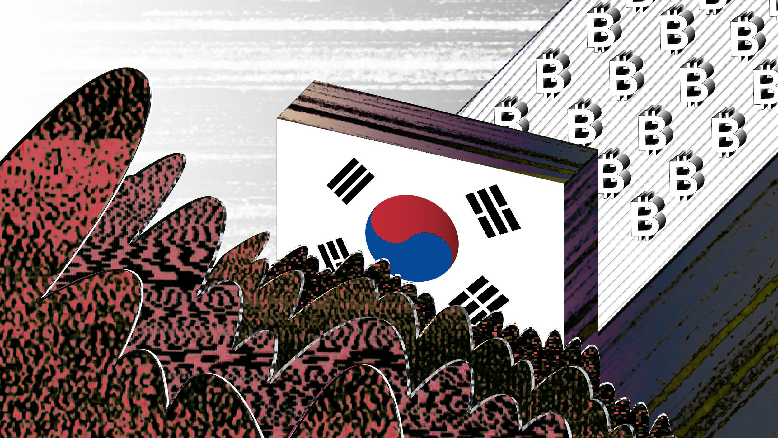 """""""Behind South Korea's Cryptocurrency Boom"""" Illustration for MIT Technology Review"""