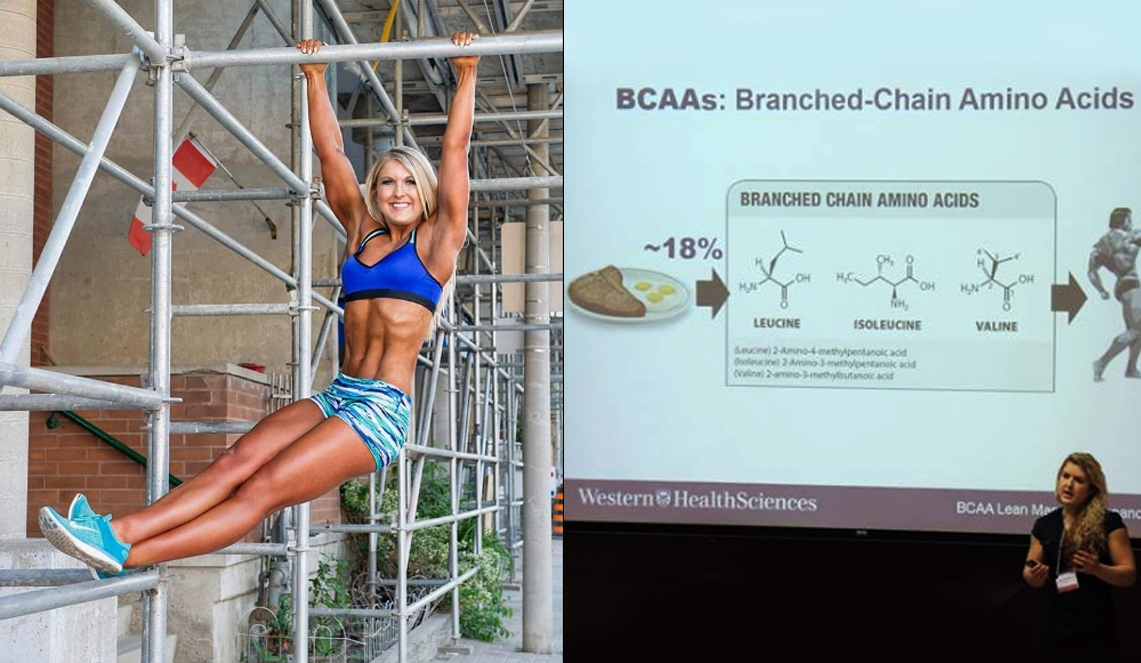 Competitive bodybuilder, trainer, and former Western student  Alicia MacDougall  hanging out and presenting her MSc research on Branched Chain Amino Acids in the context of bodybuilding. Alicia has  competed 3 times at the regional level, 3 times at the provincial level, and is now nationally qualified!