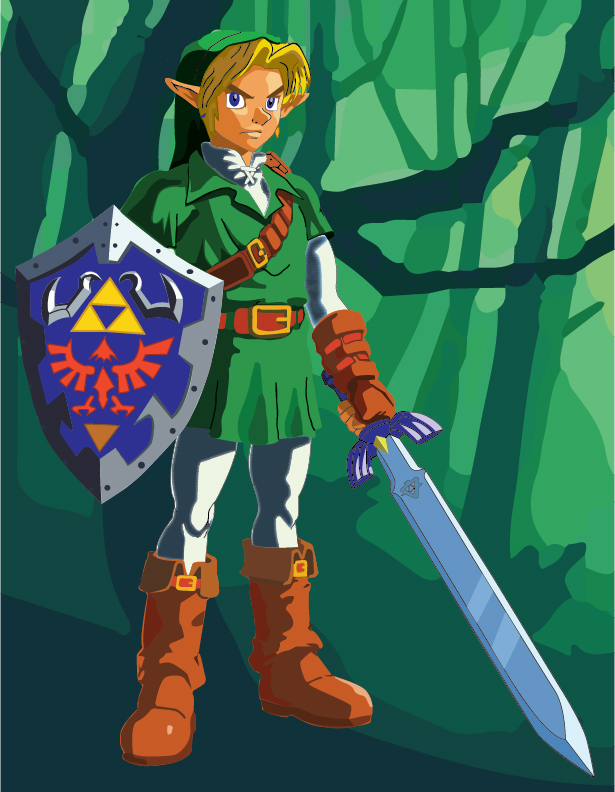 Illustration of Link from Legend of Zelda