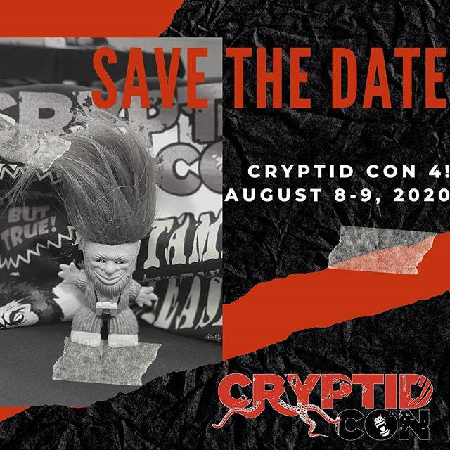 Save the date! Cryptid Con 4 is already on the calendar! On August 8-9, 2020 we return to the Clarion Hotel and Conference Center in Lexington.  Comment below and let us know what guests would be on your Bucket List! - #squatchininthebluegrass #cryptidcon #cryptidcon #rockoutwithyoursquatchout #event #Bigfoot #sasquatch #mothman #chupacabra #convention #cryptozoology #kentucky #cryptids #paranormal #ufos