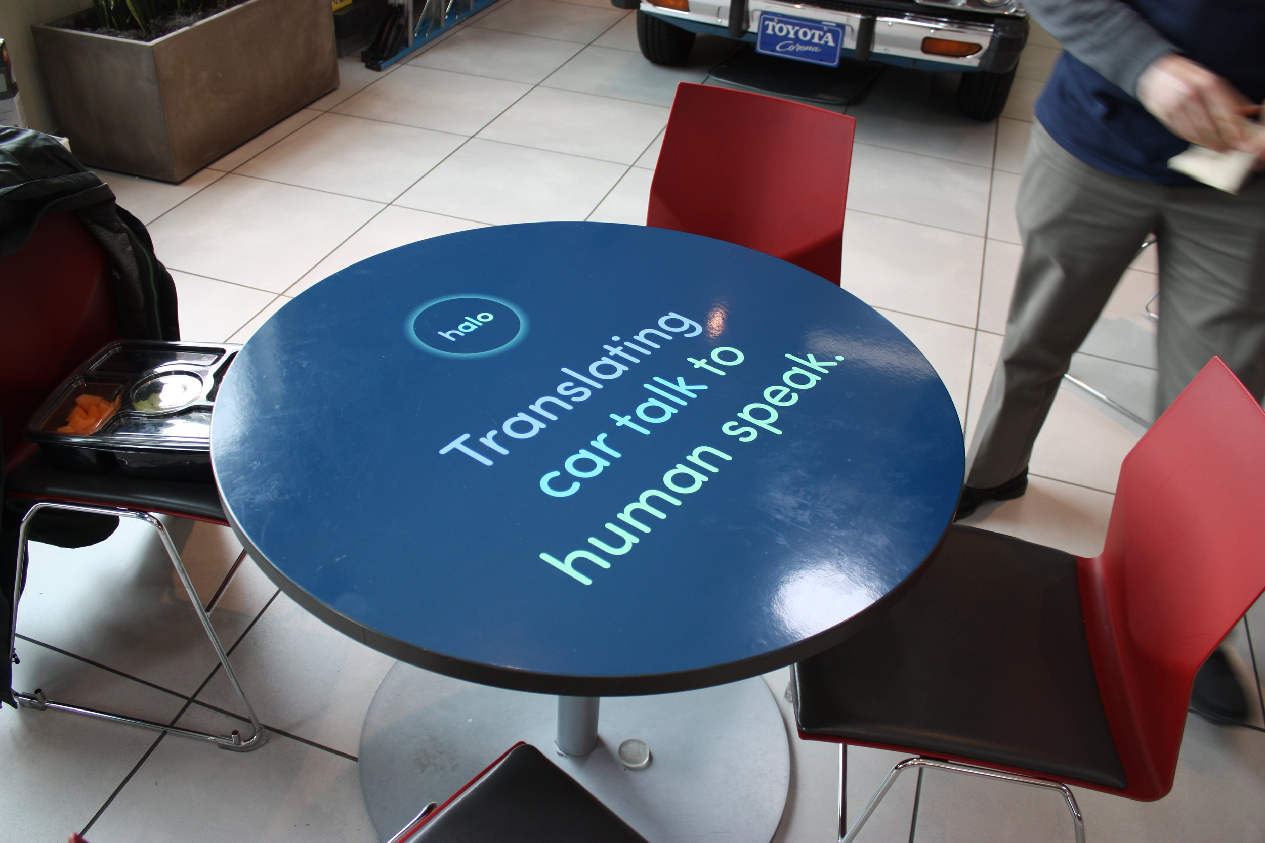 """designed to intrigue customers into asking a salesperson """"What's Halo?"""""""