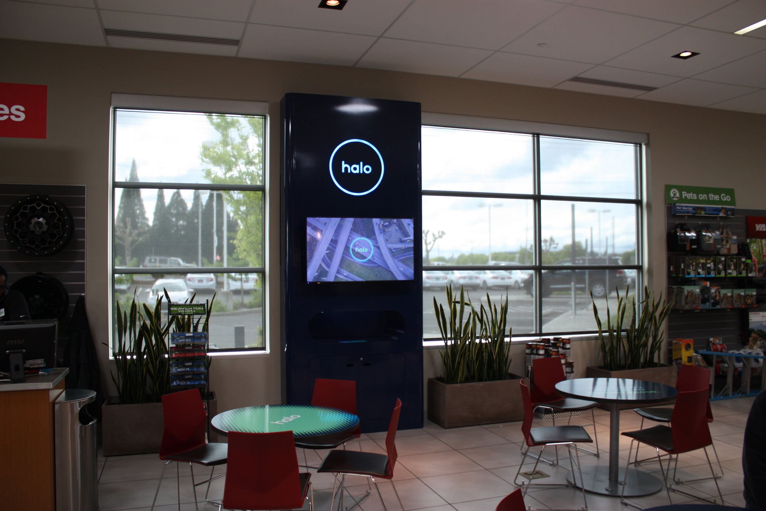 We tapped ADX to fabricate a 13-foot kiosk that we installed in the dealership,