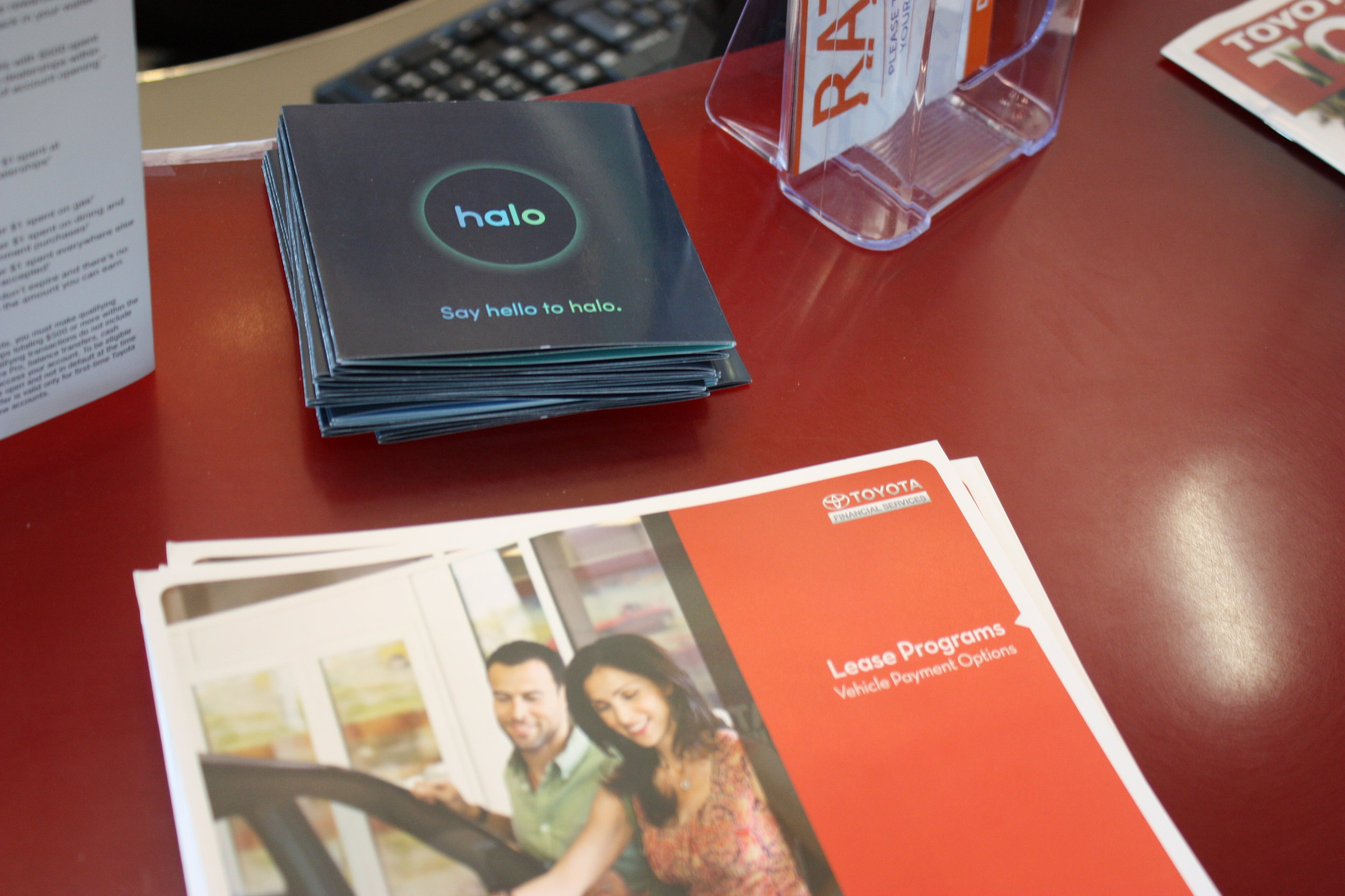 brochures for the customers,