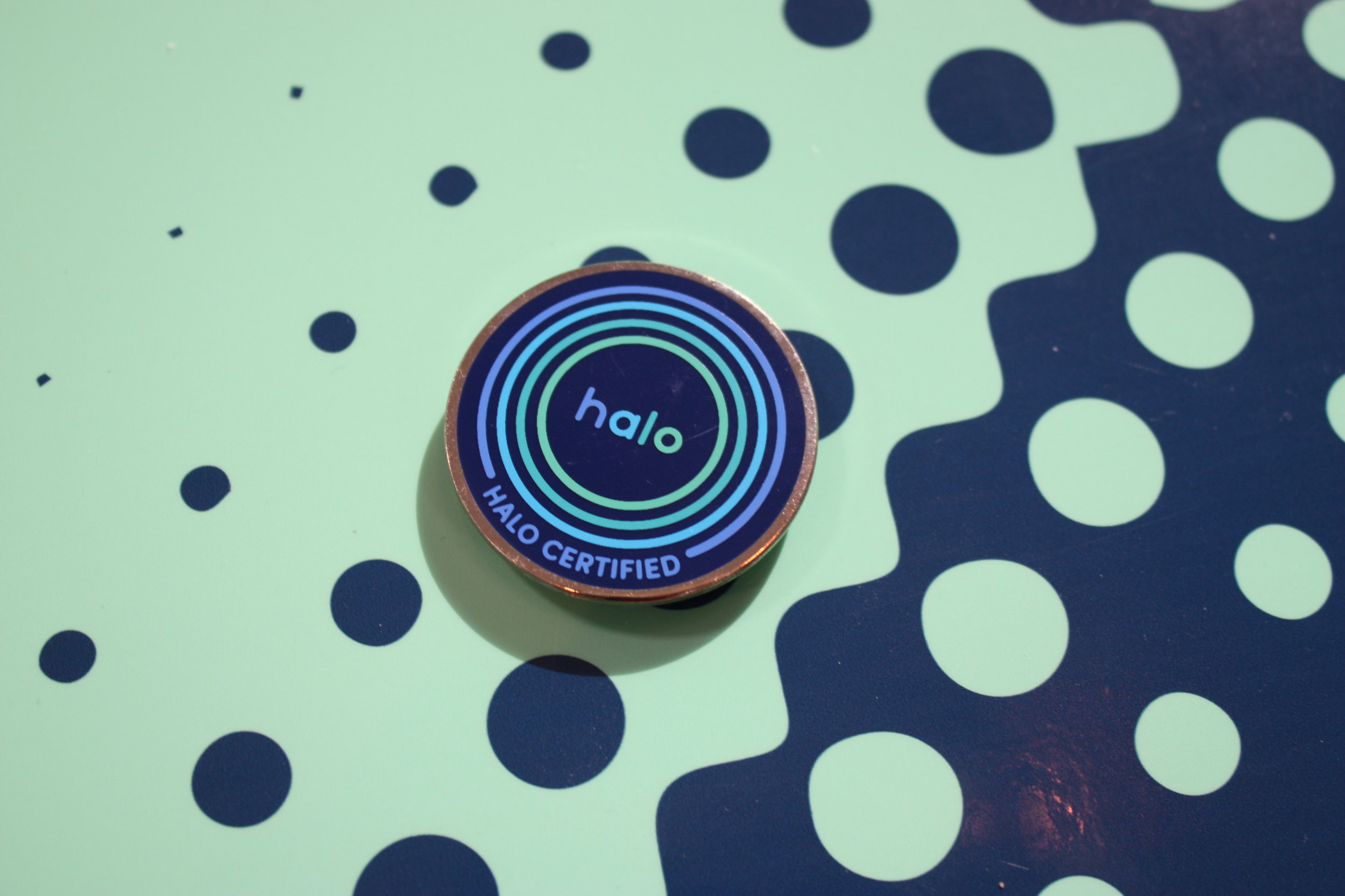 pins for the Halo-trained staff,