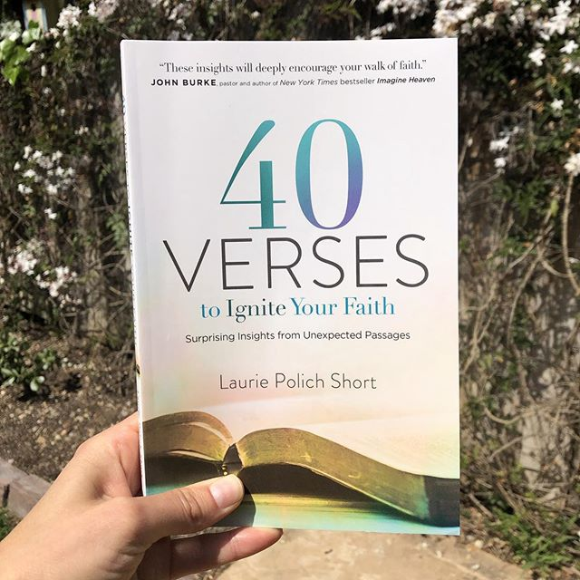 I received this book in the mail a few days ago from my dear friend and author/speaker @lauriepshort and I cannot put it down! So many wonderful insights that have been deeply encouraging to my faith in this season. I highly recommend it! #40verses #laurieshort #igniteyourfaith