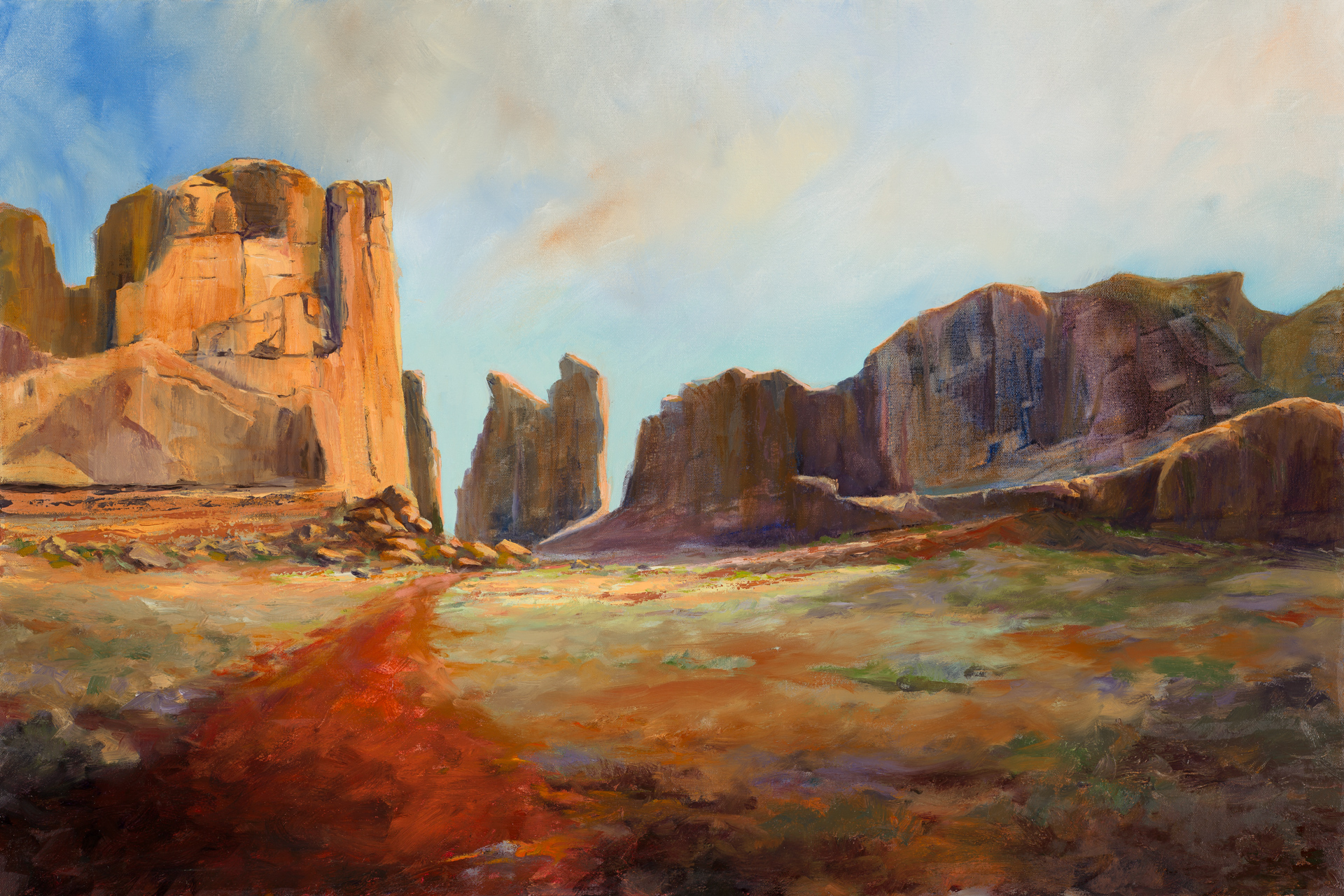 Cliffs of Moab 24x36 oil on canvas $2395.00