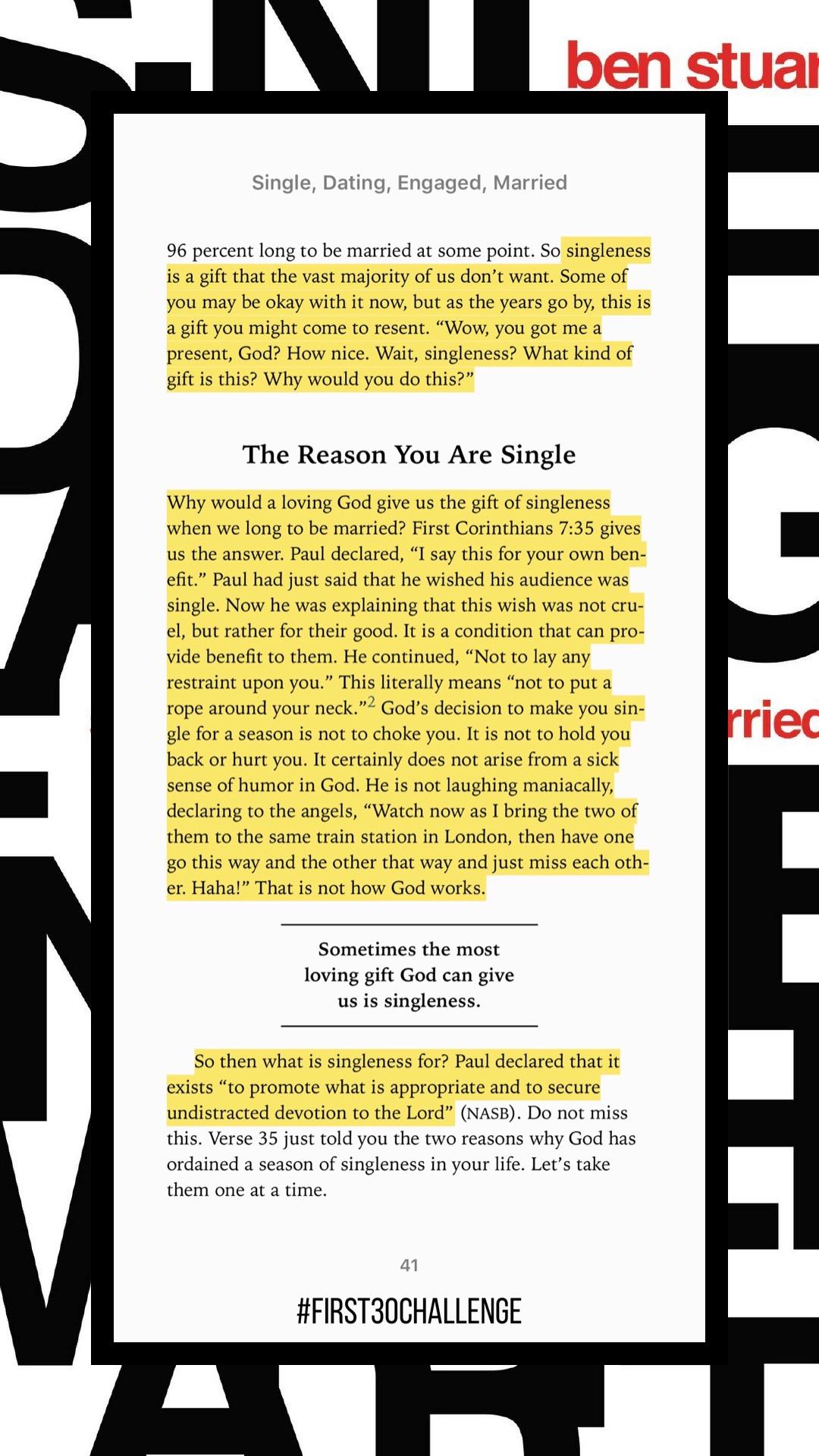 Singleness is a gift. -