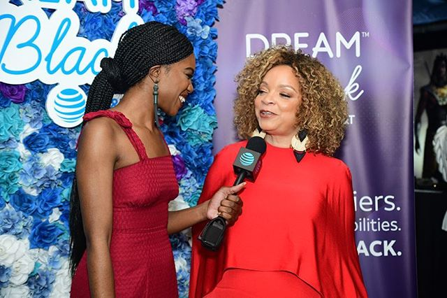 Honored to celebrate the magnificent Ruth E. Carter for making her #DreamInBlack a reality through her costume designs! Thank you for paving the way for so many incredible creatives to come 💫💁🏾‍♀️🧥 #attpartner 📸 @royalismyname