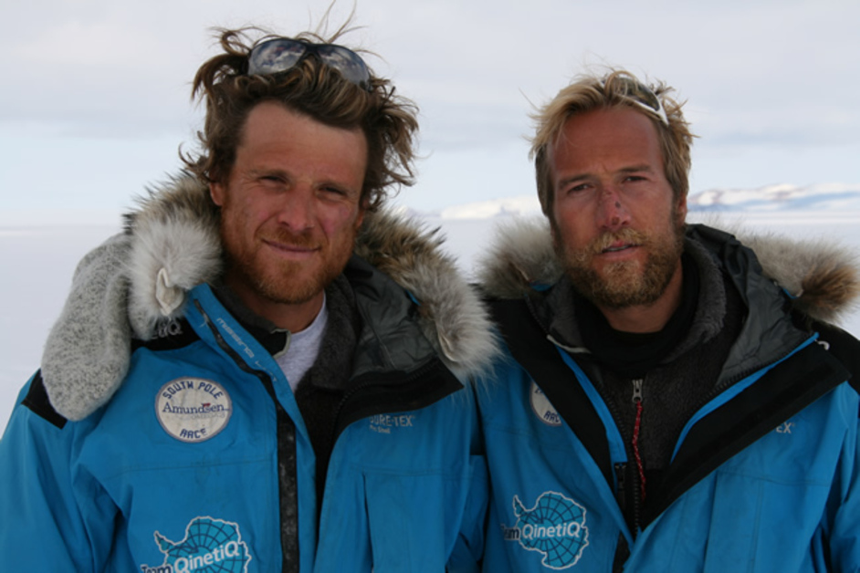 2009 JAMES + BEN FOGAL, ED COATES SOUTH POLE OTHER TEAM MEMBER. THE RACE - 481 MILE AMUNNDSEN OMEGA 3 SOUTH POLE RACE.  VENTURED BY CAPTAIN ROBERT SCOTT IN 1912. SOME OF THE MOST HOSTILE LANDS ON EARTH,TEMPERATES REACH LOWS -58F -50C ACROSS 750KM.   WWW.DISCOVERYCHANNEL.COM