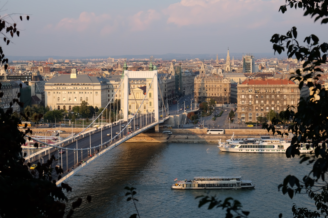 Elisabeth Bridge is one of Budapest's newest and a joy to cycle or walk across.
