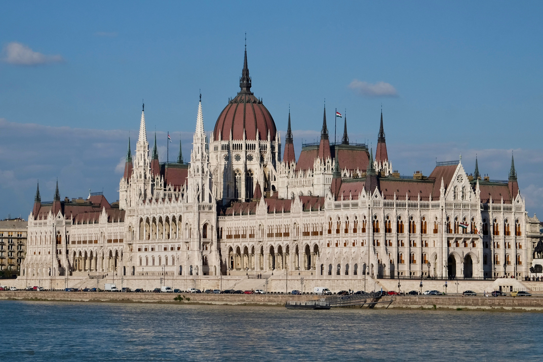 The Budapest Parliament Building is best viewed from a distance.